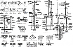 Assorted section detail dwg file