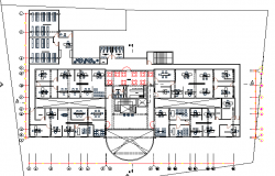 Attorney office two levels architecture layout plan details dwg file