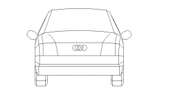Audi car back view detail