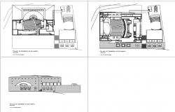 Auditorium Architecture detail layout in autocad dwg files