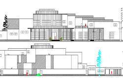 Auditorium Hall Architecture Design an Elevation dwg file