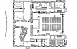 Auditorium Hall Plan Design dwg file