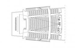 Auditorium Plan CAD Drawing Download