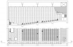 Auditorium Plan With Dimensions Detail