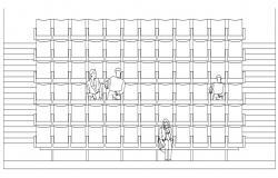 Auditorium Seating Elevation DWG File