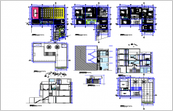 Auditorium building plan detail dwg file