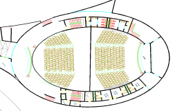 Auditorium layout plan dwg file