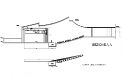 Auditorium section detail dwg file