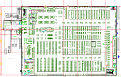 Aura mall architecture layout plan details dwg file