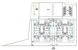 AutoCAD Design Of Sixth Floor 3BHK Apartment Planning DWG file
