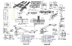 AutoCAD Drawing Structure Truss Stair I section And Framing Design DWG File