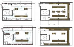 AutoCAD Plan Of Cloth Shop With Furniture And Electrical Layout DWG File