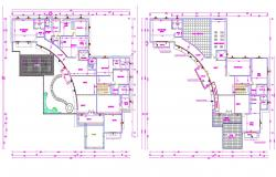 AutoCad house plan DWG file