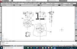Autocad 2D drawing of flange