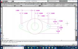 Autocad 2D drawing of mechanical part Hub