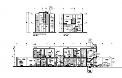 Autocad Drawing of Residential House with elevation and section