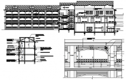 Autocad Drawing of school design in autocad file