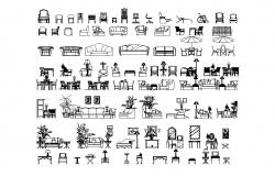 Autocad block of multiple furnitures