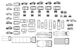 Autocad blocks of vehicles