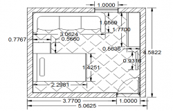 Autocad drawing bedroom