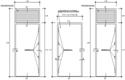 Autocad drawing door design layout