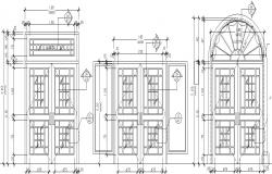 Autocad drawing of Door
