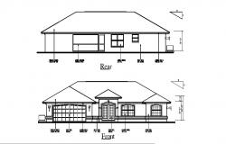 Autocad drawing of Home with different elevation