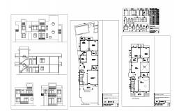 Autocad drawing of Residential house with elevation
