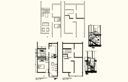 Autocad drawing of a Residential house with Section