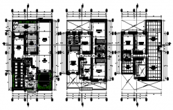 Autocad drawing of a house design with detail dimension