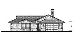 Autocad drawing of a house with elevation