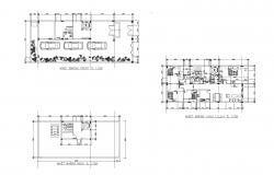 Autocad drawing of a house with furniture details