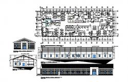 Autocad drawing of administration office  54.81mtr x 15.81mtr