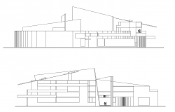 Autocad drawing of art center elevations