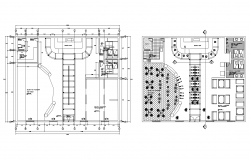 Autocad drawing of bar restaurant