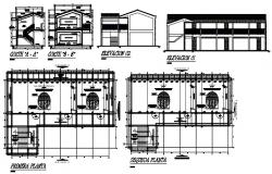 Autocad drawing of building design