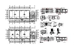 Autocad drawing of building with detail dimension