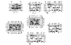 Autocad drawing of bungalow 8.66mtr x 15.18mtr with detail dimension in dwg file