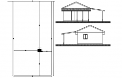 Autocad drawing of bunglow elevations