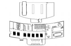 Autocad drawing of bus terminal
