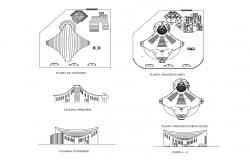 Autocad drawing of catholic church