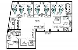 Autocad drawing of clinic layout