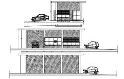 Autocad drawing of commercial building elevations