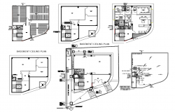 Autocad drawing of commercial office layout