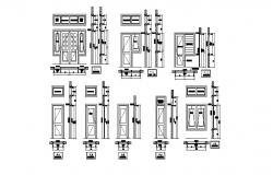 Autocad drawing of door and windows