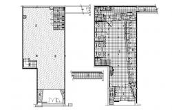 Autocad drawing of false ceiling layout