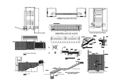 Autocad drawing of foundation structure