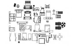 Autocad drawing of furniture design