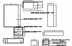 Autocad drawing of furniture detail