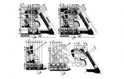 Autocad drawing of garden restaurant
